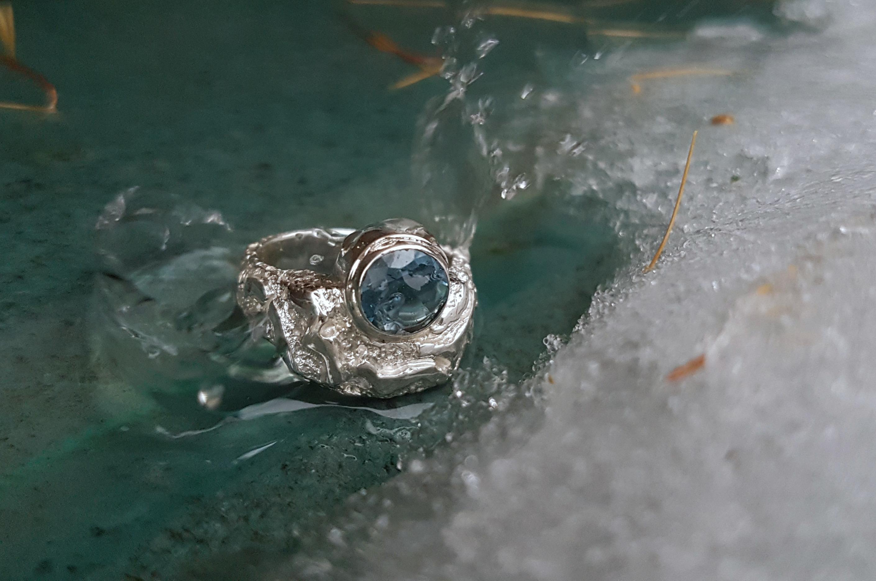 Carrousel-Bien-etre-De-la-Terre-et-des-etoiles-Bague-motifs-Ag925-Topaze-Swiss-Blue